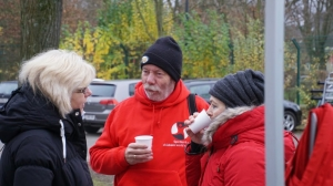 Auch die Begleiter der LäuferInnen trainieren